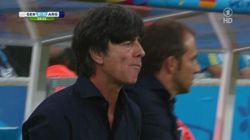 Joachim Löw & Hansi Flick – Germany v Argentina – 2nd half 1