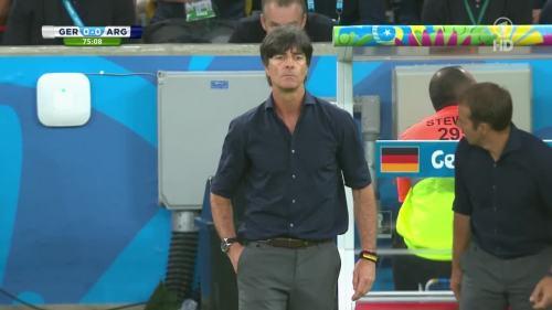 Joachim Löw & Hansi Flick – Germany v Argentina – 2nd half 2