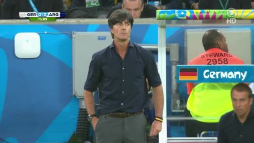 Joachim Löw & Hansi Flick – Germany v Argentina – 2nd half 3