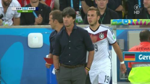 Joachim Löw & Hansi Flick – Germany v Argentina – 2nd half 4
