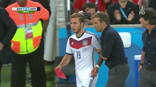 Joachim Löw & Hansi Flick – Germany v Argentina – 2nd half 6