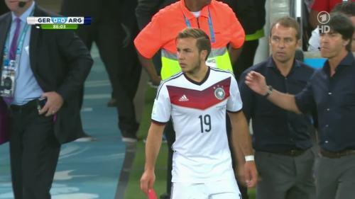 Joachim Löw & Hansi Flick – Germany v Argentina – 2nd half 7
