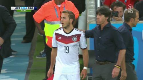 Joachim Löw & Hansi Flick – Germany v Argentina – 2nd half 8