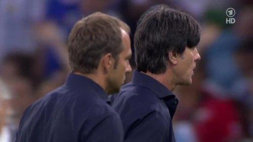 Joachim Löw & Hansi Flick – Germany v Argentina – extra time 11