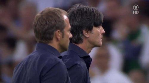 Joachim Löw & Hansi Flick – Germany v Argentina – extra time 12