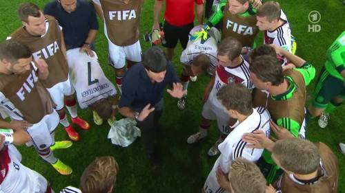 Joachim Löw & Hansi Flick – Germany v Argentina – extra time 5