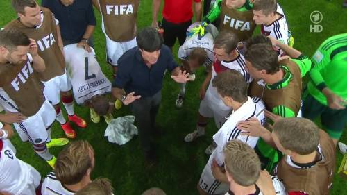Joachim Löw & Hansi Flick – Germany v Argentina – extra time 6