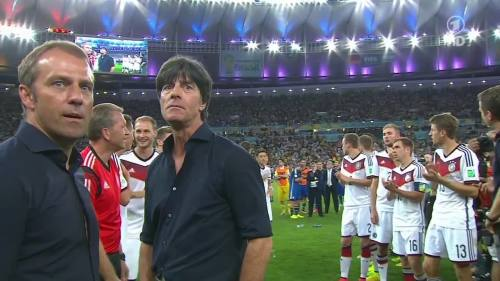 Joachim Löw & Hansi Flick – Germany v Argentina – post-match show 14