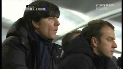 Joachim Löw & Hansi Flick – Germany v Italy 2