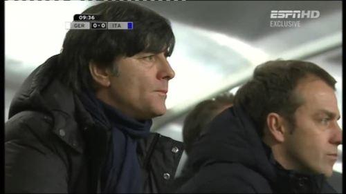 Joachim Löw & Hansi Flick – Germany v Italy 3
