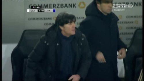 Joachim Löw & Hansi Flick – Germany v Italy 4