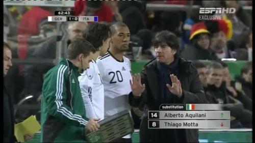 Joachim Löw & Hansi Flick – Germany v Italy 6