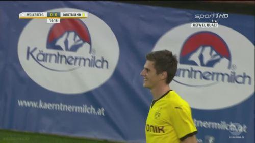 Jonas Hofmann – goal celebrations – WAC v BVB 1