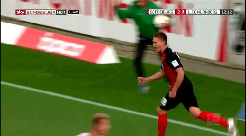 Nils Petersen goal celebrations 1