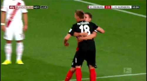 Nils Petersen goal celebrations 3
