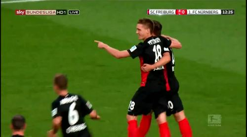 Nils Petersen goal celebrations 4