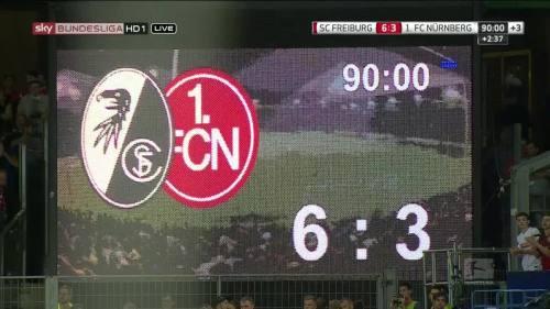 SC Freiburg v FCN  - score-board