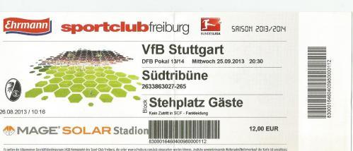 SC Freiburg v VfB Stuttgart - DFB Pokal 2013-14 ticket