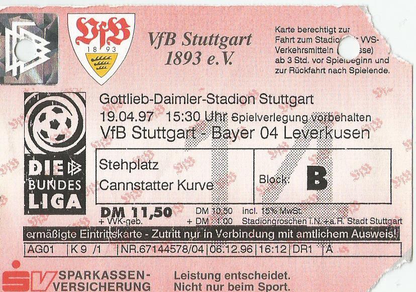 Karlsruher SC Programm 1996//97 HSV Hamburger SV