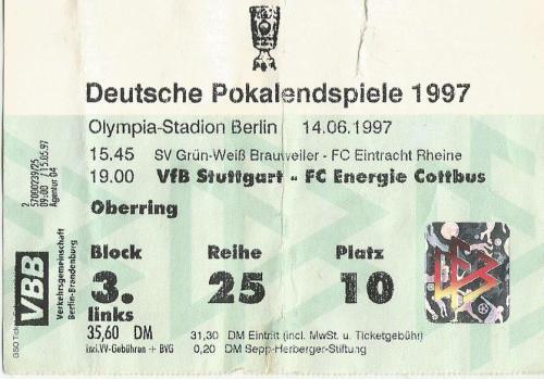 Deutschle Pokalendspiele 1997 - VfB Stuttgart-Energie Cottbus t
