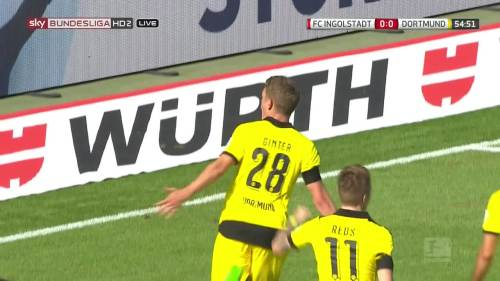 Ginter goal celebrations – Ingolstadt v BVB 1
