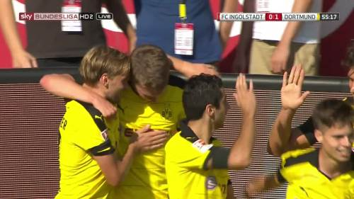 Ginter goal celebrations – Ingolstadt v BVB 11