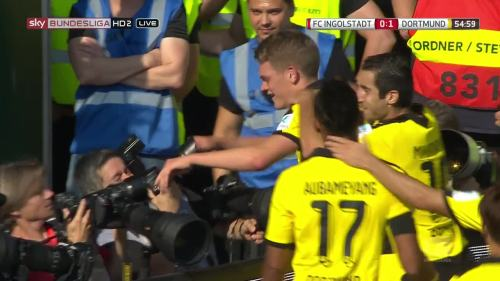 Ginter goal celebrations – Ingolstadt v BVB 2