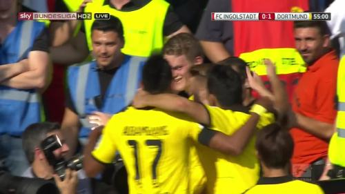 Ginter goal celebrations – Ingolstadt v BVB 3