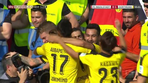 Ginter goal celebrations – Ingolstadt v BVB 4