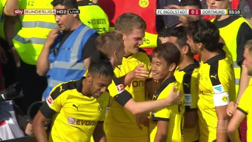 Ginter goal celebrations – Ingolstadt v BVB 8