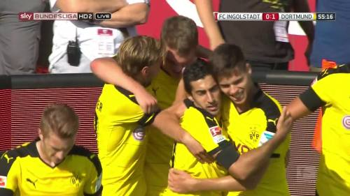 Ginter goal celebrations – Ingolstadt v BVB 9