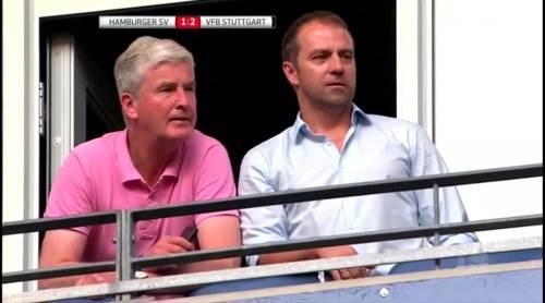 Hansi Flick at HSV v VfB 1