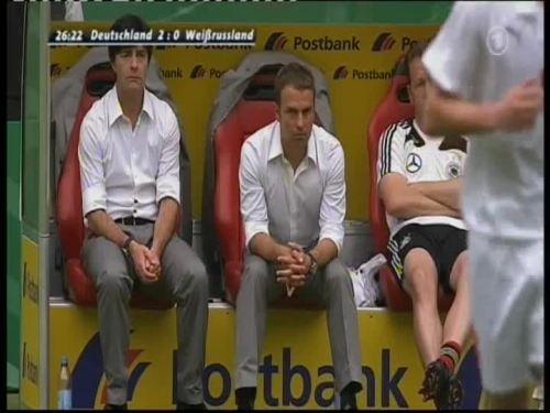 Joachim Löw & Hansi Flick – Germany v Belarus 1