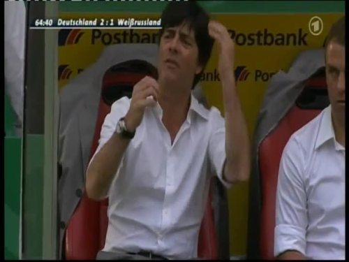 Joachim Löw & Hansi Flick – Germany v Belarus 8