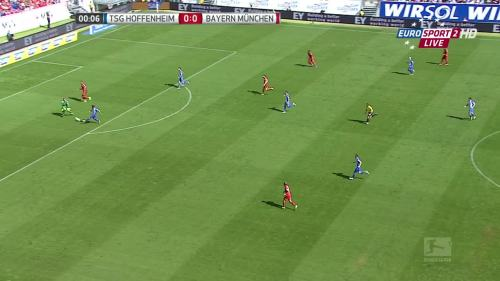 Kevin Volland goal - TSG v FCB 1
