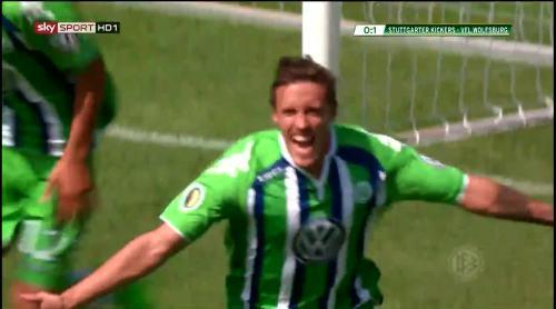 Max Kruse - Stuttgarter Kickers v VfL Wolfsburg 2