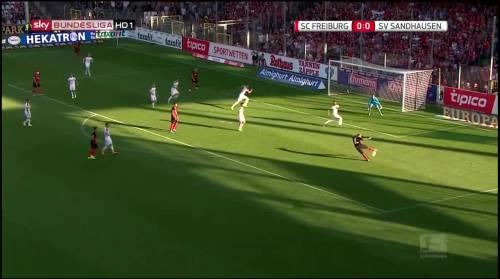 Mike Frantz goal - SC Freiburg v SV Sandhausen 1