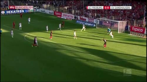 Mike Frantz goal - SC Freiburg v SV Sandhausen 2
