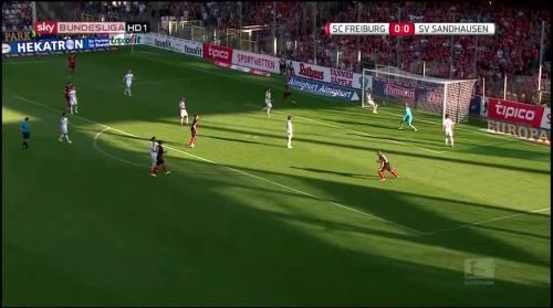 Mike Frantz goal - SC Freiburg v SV Sandhausen 3