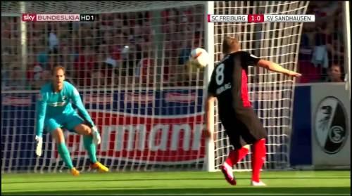 Mike Frantz goal - SC Freiburg v SV Sandhausen 4