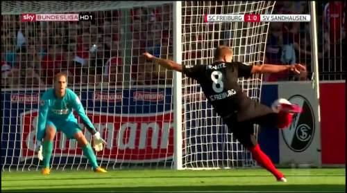 Mike Frantz goal - SC Freiburg v SV Sandhausen 5