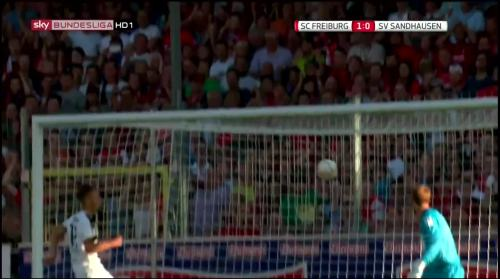 Mike Frantz goal - SC Freiburg v SV Sandhausen 6