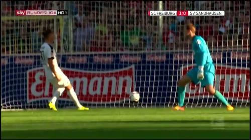 Mike Frantz goal - SC Freiburg v SV Sandhausen 7