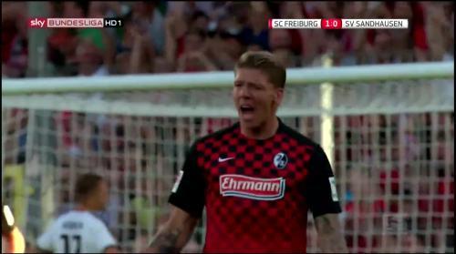 Mike Frantz goal - SC Freiburg v SV Sandhausen 8