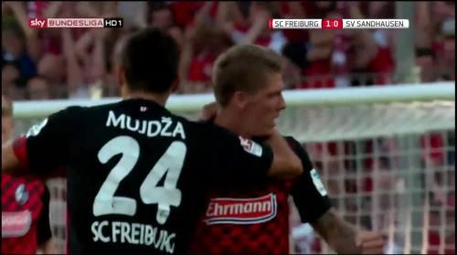 Mike Frantz goal - SC Freiburg v SV Sandhausen 9