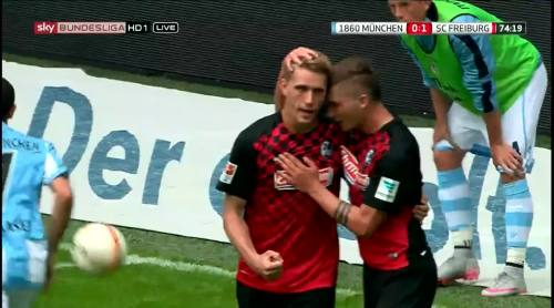 Nils Petersen goal celebrations 2