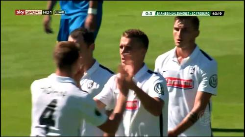Petersen - 3rd goal - Pokal 1st round 1