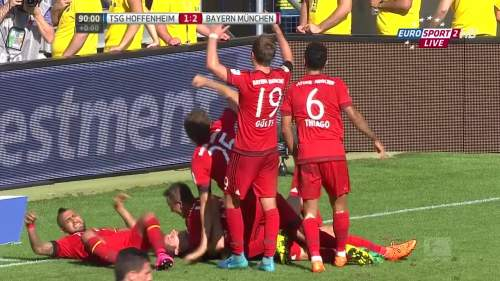 Robert Lewandowski goal celebrations – TSG v FCB 1