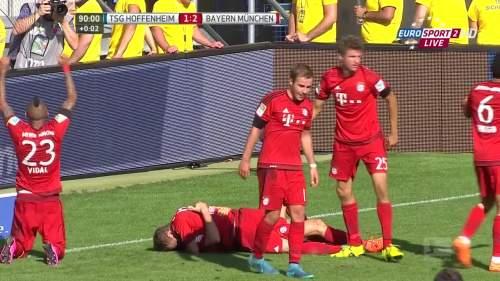 Robert Lewandowski goal celebrations – TSG v FCB 2