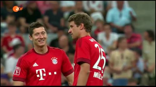 Robert Lewandowski & Thomas Müller – Bayern v AC Milan 2